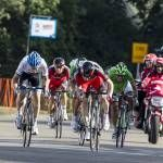 Rohan Dennis (Garmin Sharp) out-sprints Brent Bookwalter for Stage 3 of the Tour of Alberta
