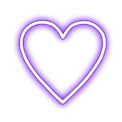 Neon Heart Love Freetoedit Purple Heart Wallpaper Love Heart Emoji Theme Dividers Instagram
