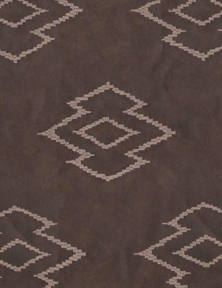Design Name: Comanche  Colour: Chocolate  Width: 140cm  Repeat: 42cm  Composition: 55%PU 53%P 10%C  Collection: Compass    Available at www.halogen.co.za