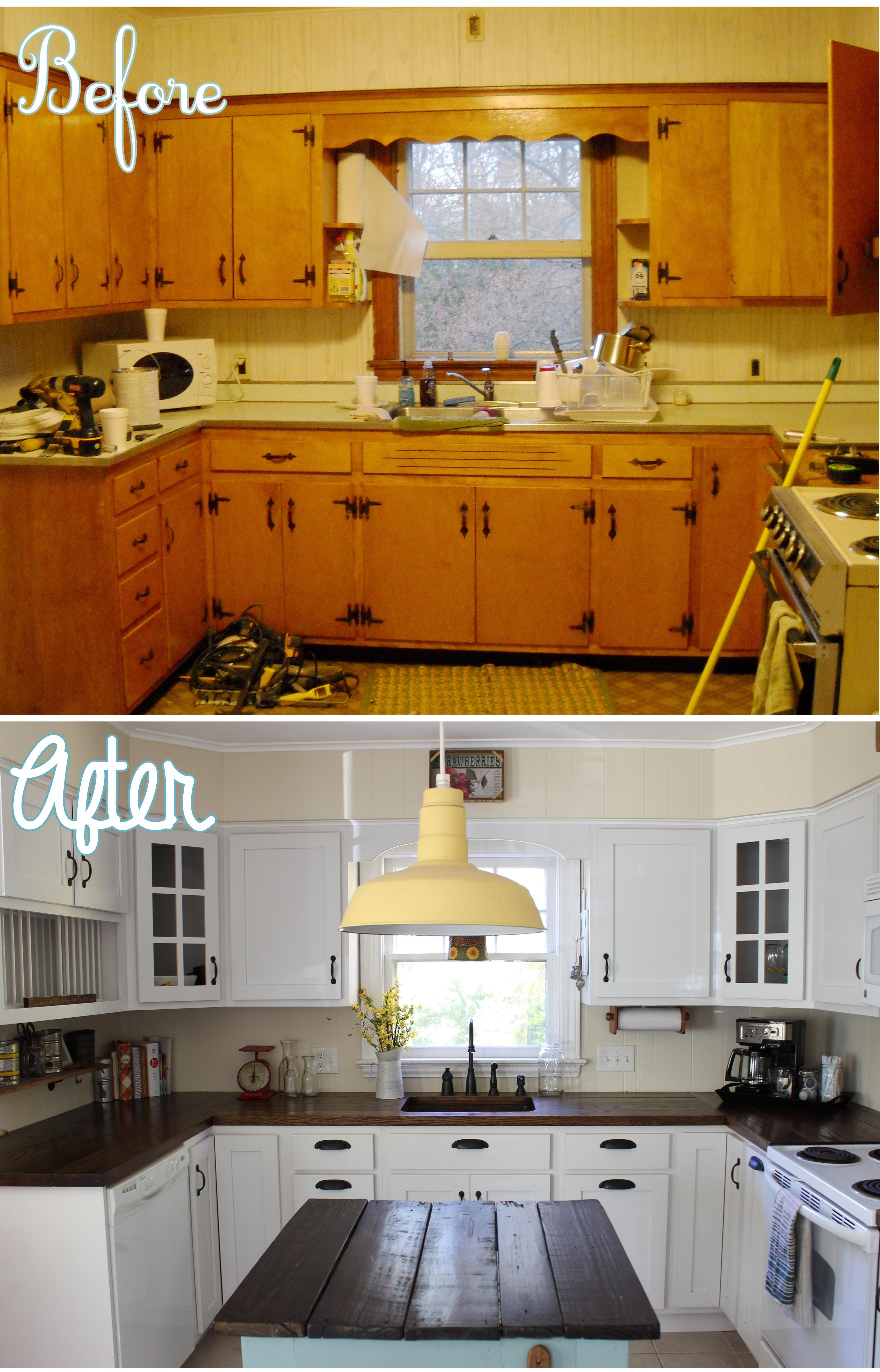 DIY Wide Plank Butcher Block Counter Tops | simplymaggie.com | Home ...