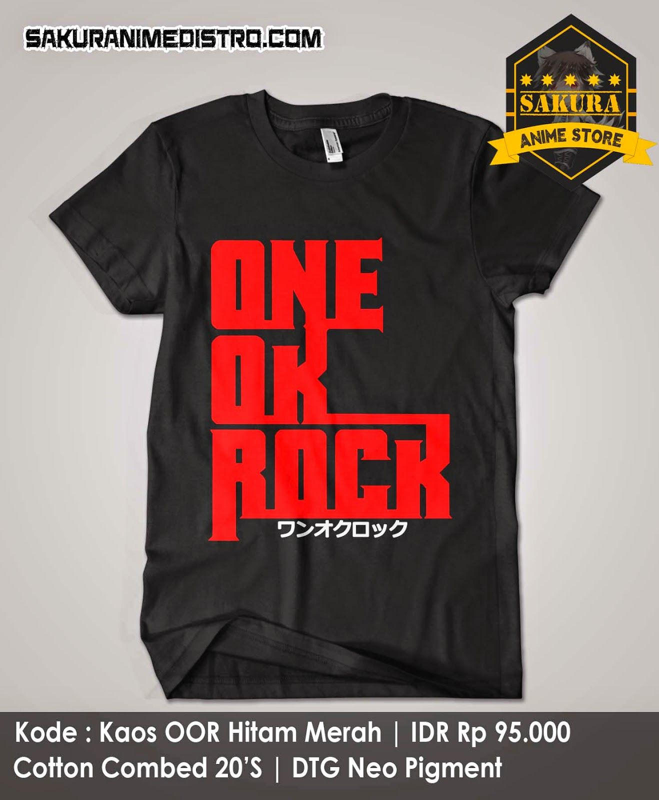 Kaos One Ok Rock Hitam One ok rock, Hitam, dan Scandal