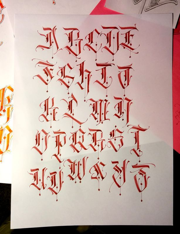 Pin by My Info on Old english font | Calligraphy alphabet