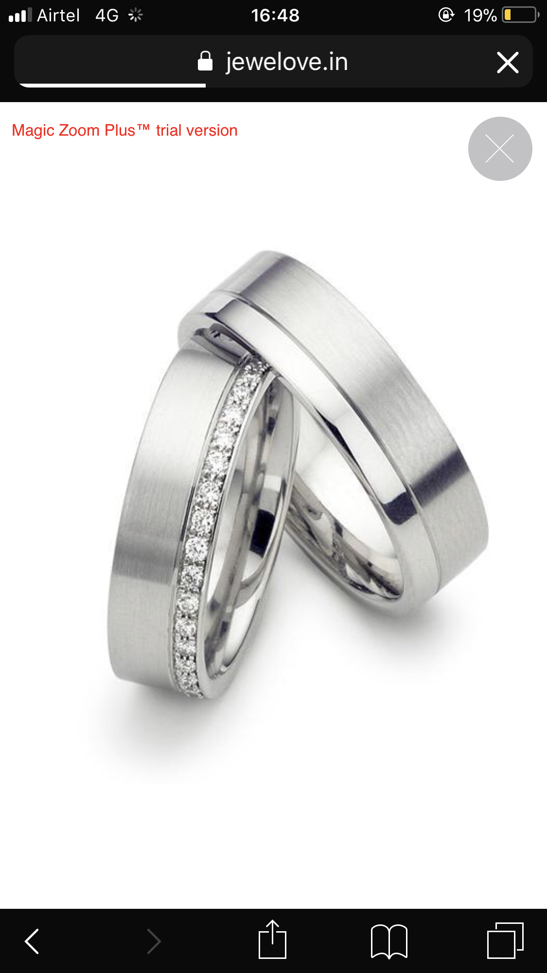Customised Platinum Ring With Single Diamond For Men Cheap