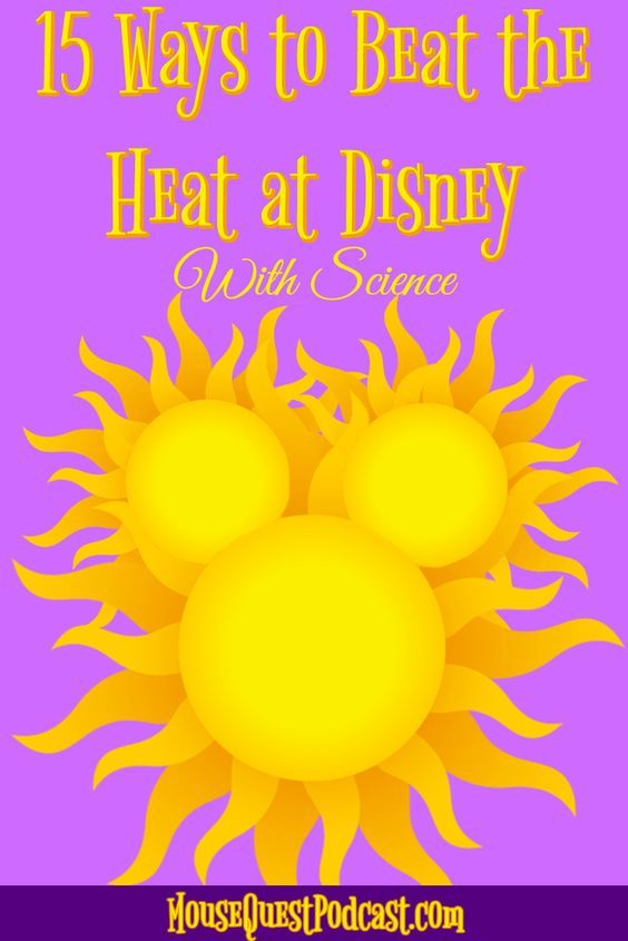Beat the Heat at Disney / Magic Kingdom / Epcot / Hollywood Studios / Animal Kingdom / Walt Disney World