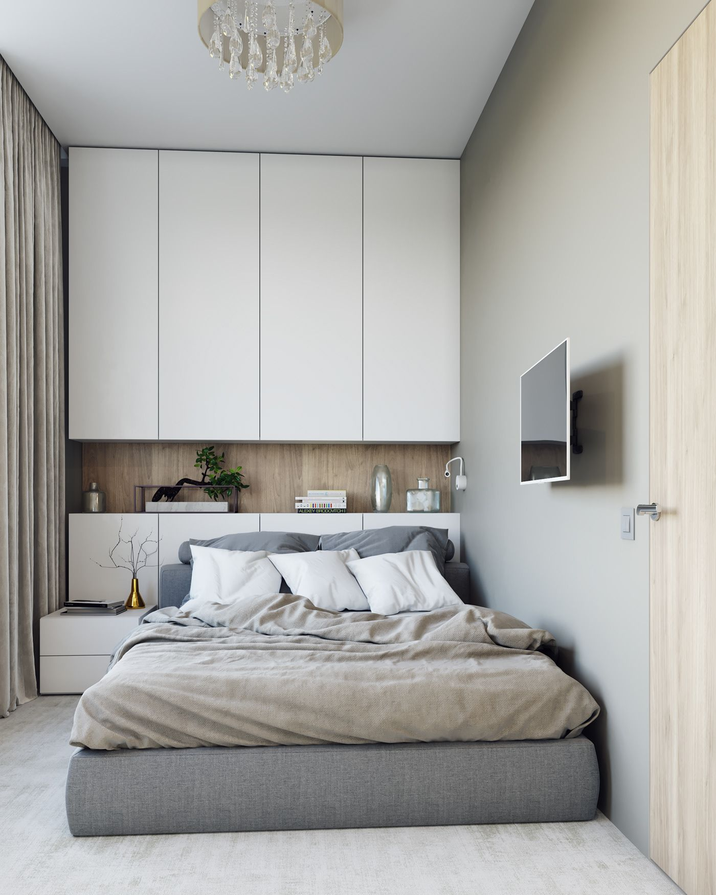 20 Best Small Modern Bedroom Ideas: 3D Rendering Modern Apartment In Moscow On Behance