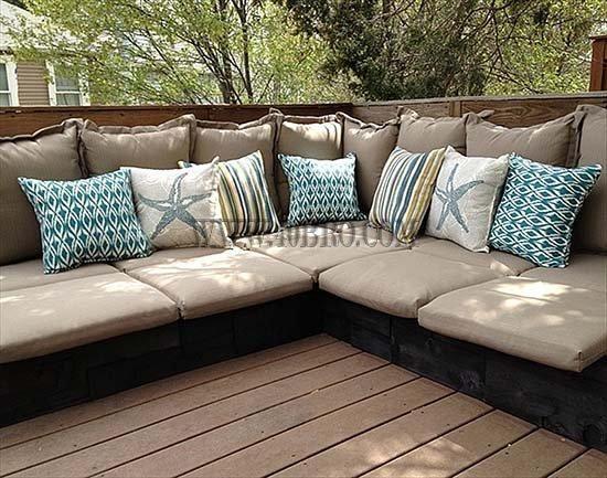 projetos diy de reutilizar e reciclar paletes de madeira para mobiliário de exterior e projeto do jardim