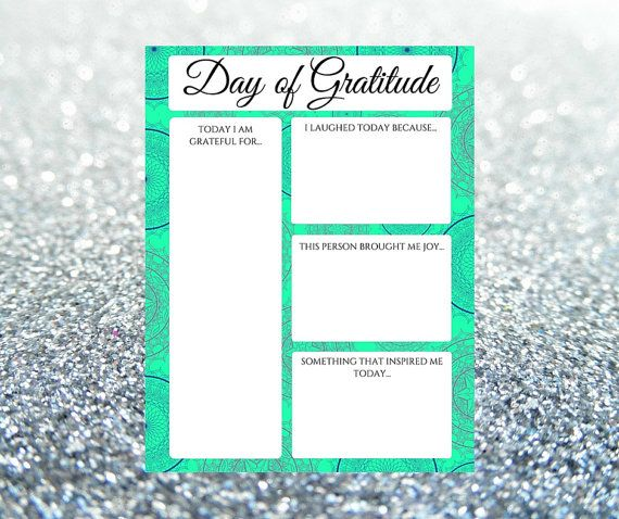 Gratitude Journal Day of Gratitude Printable by BalancedRemnants – Gratitude List Worksheet