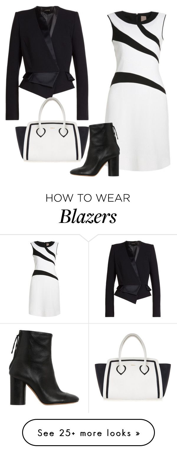 """""""Black and White"""" by sillycatgrl on Polyvore featuring Isabel Marant, Alexandre Vauthier and Furla"""