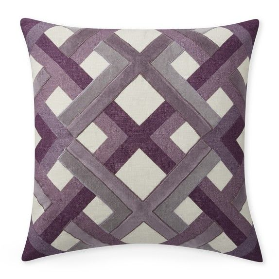 Trellis Geo Pillow Cover In Lilac 40 Square Williamssonoma New 22 Square Pillow Covers