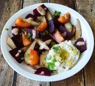 Salt Roasted Beet Salad with Whipped Ricotta {Vegan} - TheVegLife