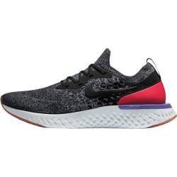 Nike Herren Laufschuhe Epic React Flyknit, Größe 44 ½ in Schwarz / Schwarz / Weiß / Rot, Größe 44 ½ #hikingtrails