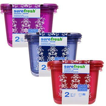 Sure Fresh Limited Edition 32 oz Square Storage Containers 2 ct