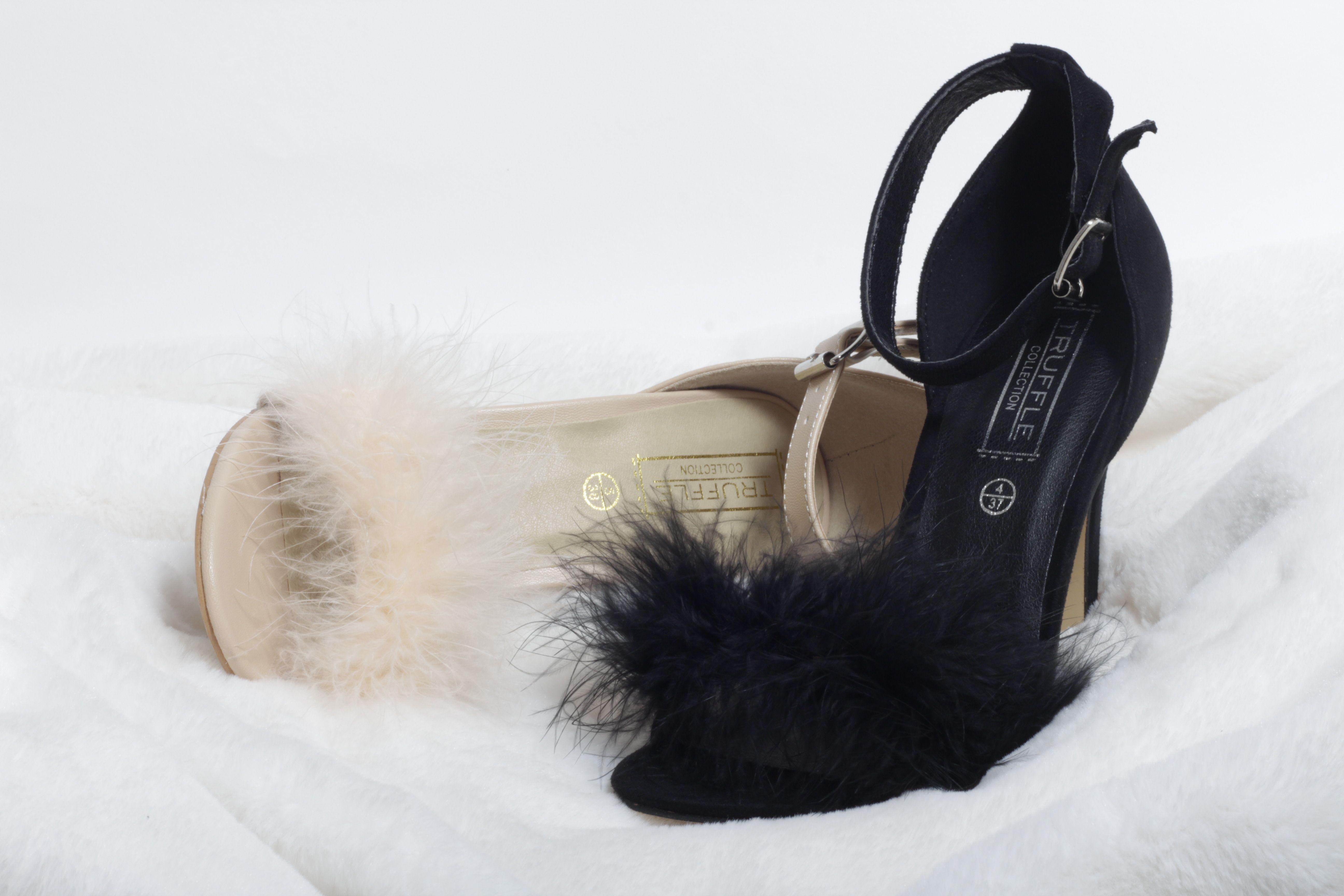 e855dc70ca400e OH HOT DAMN  Korky s flulffy black and nude heels  korkysshoes  heels   fluffyheels  korkys  blackheels