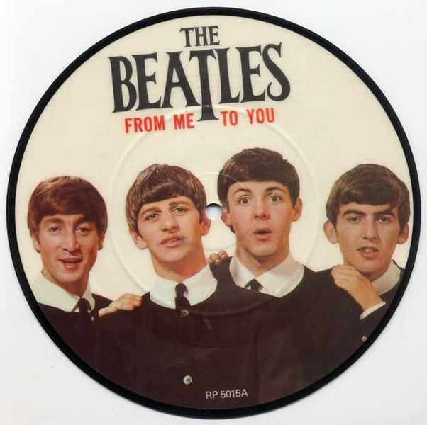 45 Record The Beatles From Me To You Picture Discs