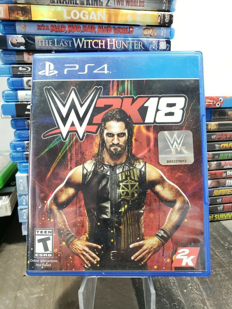 WWE 2K18 PS4 (Sony PlayStation 4) COMPLETE *TESTED* Fast