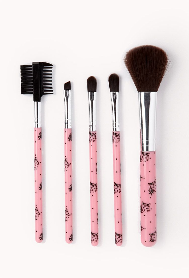 Cat cosmetic brush set forever21 1062131447 cosmetic