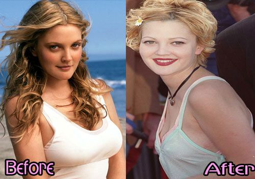 breasts Drew before barrymore