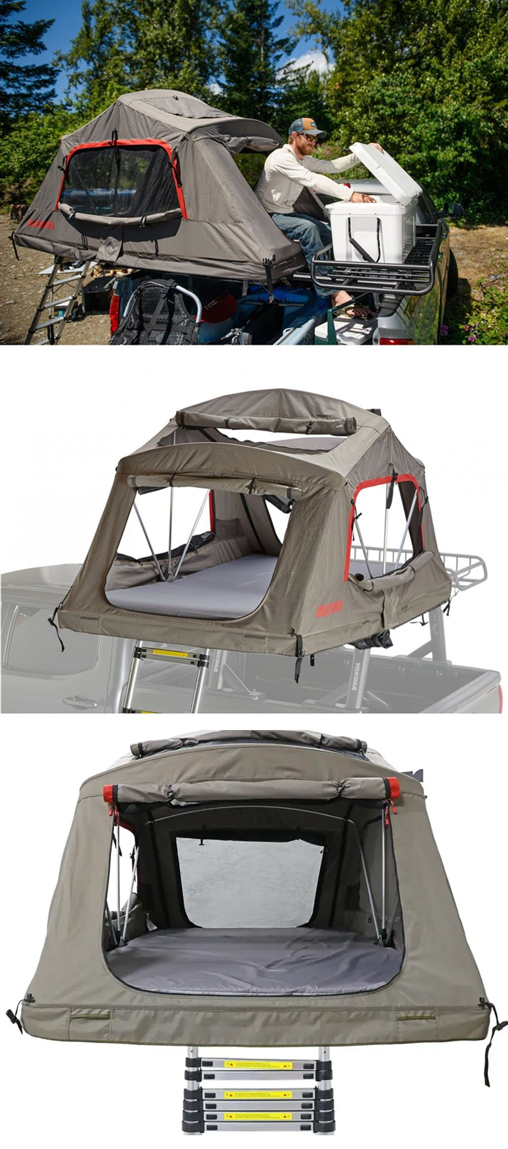 Yakima Skyrise Poler Tent For Roof Rack Crossbars 3 Person 600