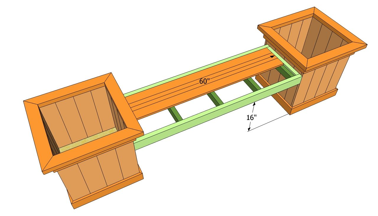 Diy Bench And Planter Combination Planter Bench Plans Planter Bench Diy Outdoor Seating Planter Box Plans