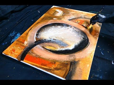 Easy Abstract Painting Techniques Using Acrylic Paint And Water
