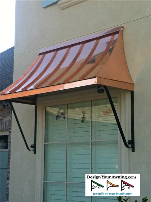 The Copper Juliet Awning Metal Awning House Awnings Copper Awning