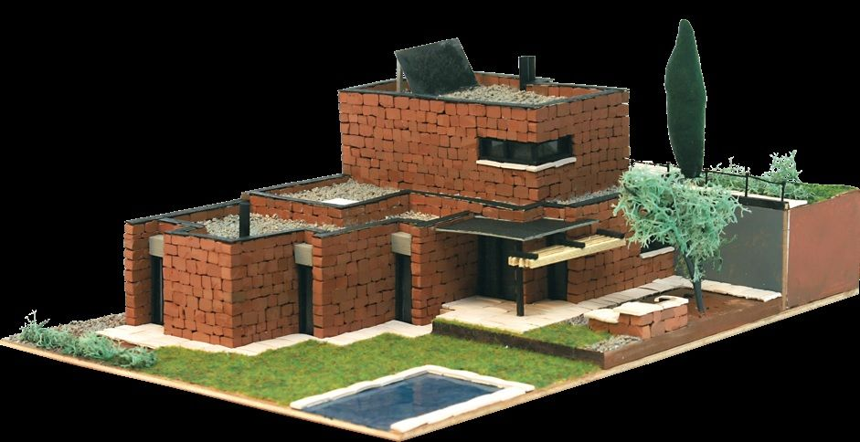 Maqueta domus kits 40602 maqueta piedra kit chalet for Maquetas de jardines
