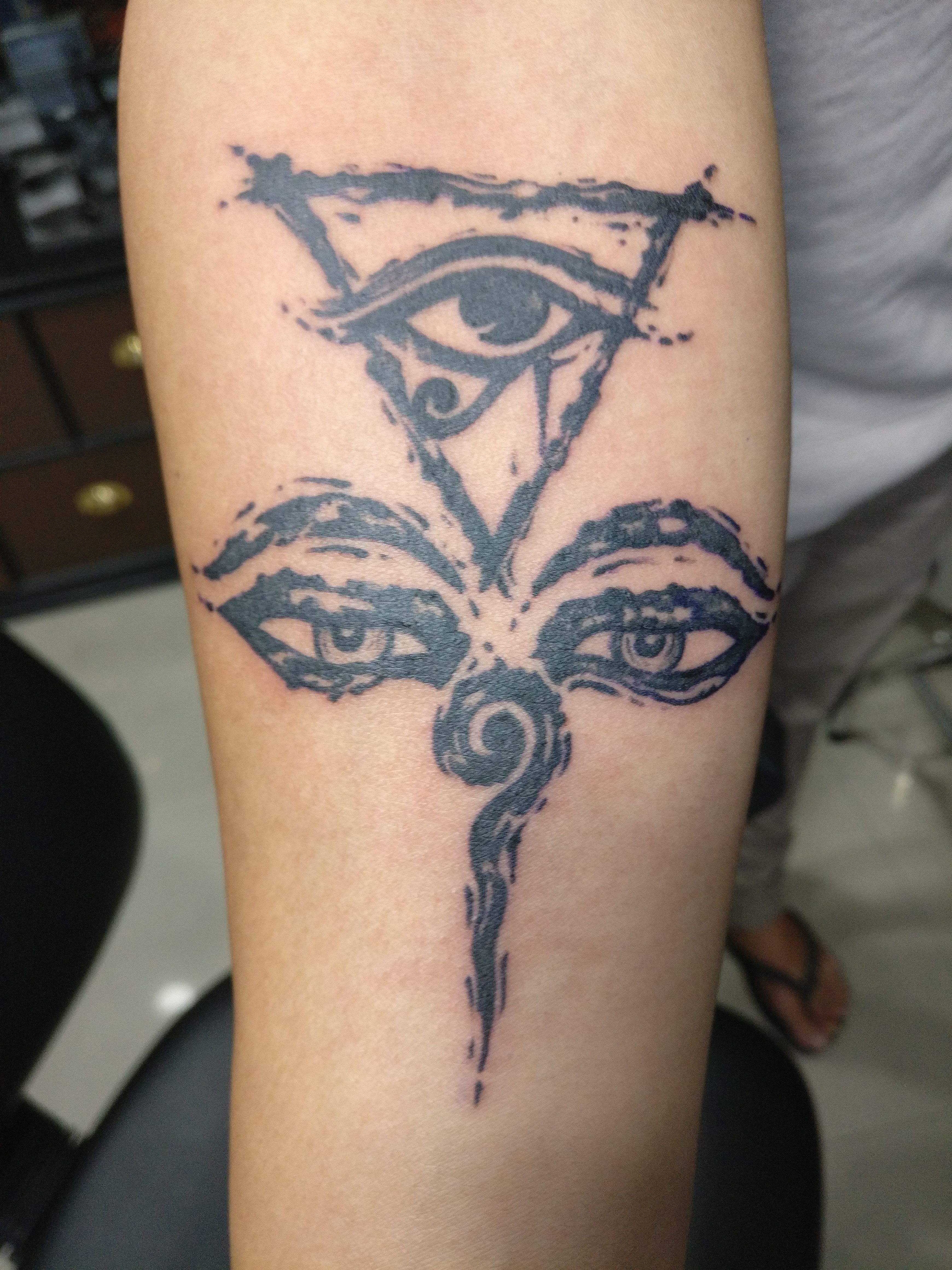 Anands Tattoo Artist Ananda Koirala Nepal Tattoo Pokhara Tattoo Buddha Eye Tattoo Design Abstract Buddha Eye With Egy Nepal Tattoo Eye Tattoo Egyptian Tattoo