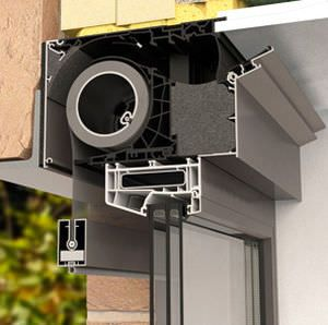 Window vent with integrated solar protection screen FIXVENT® MONO AK EVO RENSON