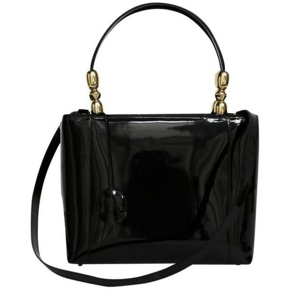 0560a40316a Preowned Christian Dior Lady Dior Bag In Vintage Black Patent Leather  ( 1,547) ❤ liked