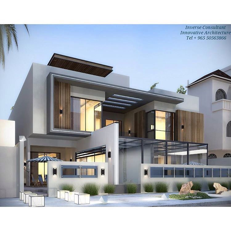 Building elevation front villa design modern house curved walls also pin by ctx on in plans rh pinterest
