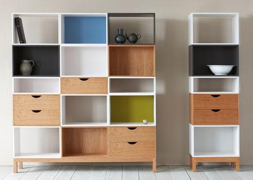 Biblioteca modular moderna de madera vigo pinch for Ver modulares modernos