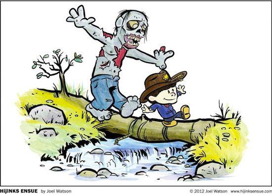 Calvin & Hobbes meets The Walking Dead.