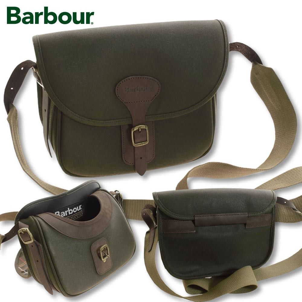 Barbour Wax Leather Cartridge Bag