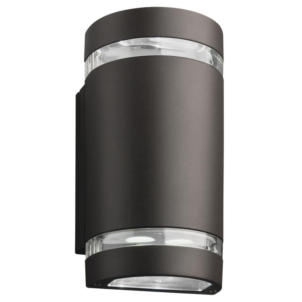 Lithonia Lighting 1 Light Dark Bronze Led Outdoor Wall Cylinder Wall Lantern Sconce Ollwu Led P1 40k 120 Ddb Hp17 M6 Lithonia Lighting Cylinder Lights Led Outdoor Wall Lights