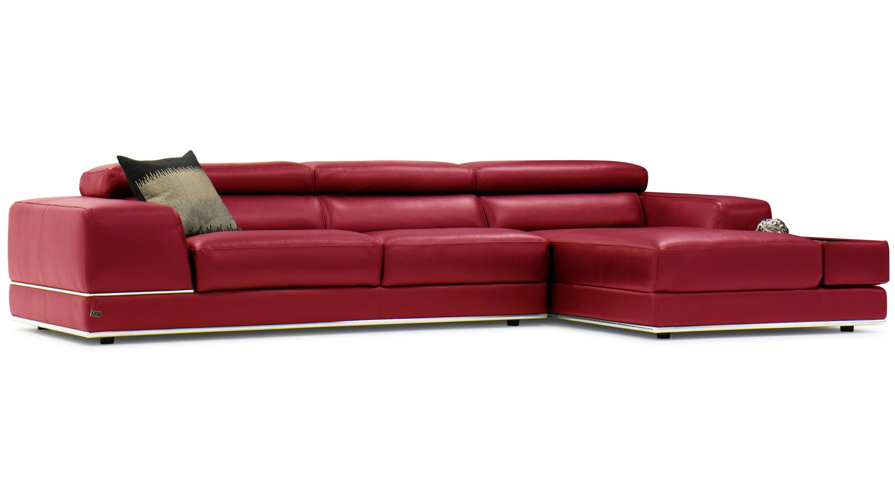 Encore Sectional Red Family Room Leather Couch Sectional