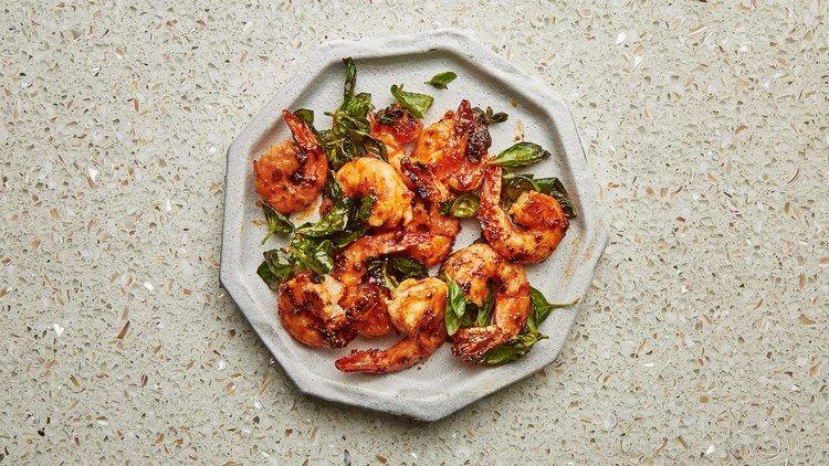 Shrimp and Basil Stir-Fry Recipe