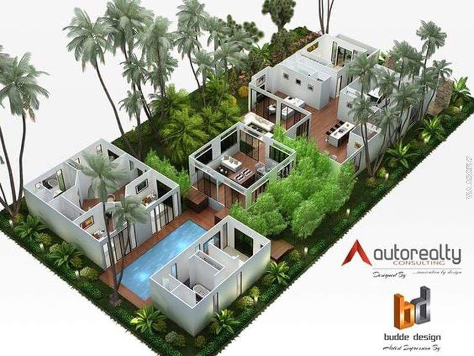 Traumhaus, Haus Pläne, 3d Haus Pläne, Modulares Design, Verpackungsdesign,  Architekturdesign, Grundrisse, Haus Design, Arquitetura