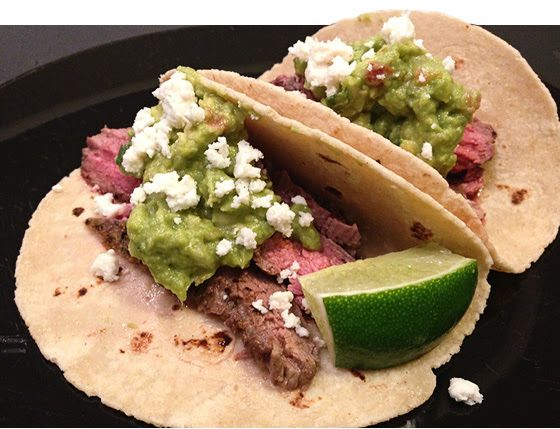 Steak Tacos Recipe - http://easydinnerrecipes101.com/dinner/steak-tacos-recipe/