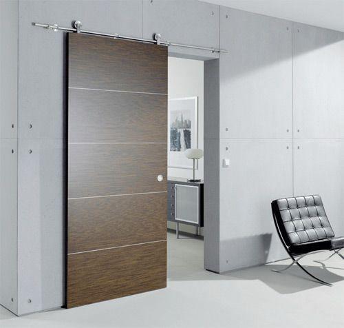 33 idées de portes coulissantes déco Salons, Sliding barn doors - rail porte coulissante en applique