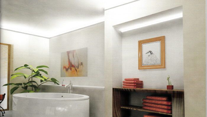 Lichtleiste Für LED Deckenbeleuchtung: Als Fliesenabschluss Zur Decke