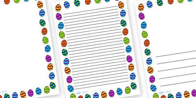 Easter Egg Page Borders Preschool - Journal Pinterest