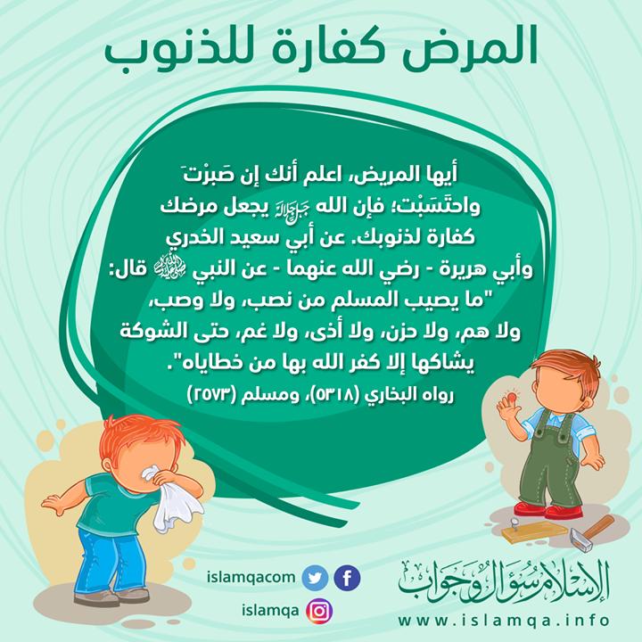 المرض كفارة للذنوب بعض الأدعية والأدوية الصحيحة لمن يشتكي من ألم في بدنه Http Ift Tt 2nwv4pn Life Quotes Islam Quotes