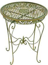 Eisen Tisch Rund Gartentisch Metall Terassentisch Antik Grun