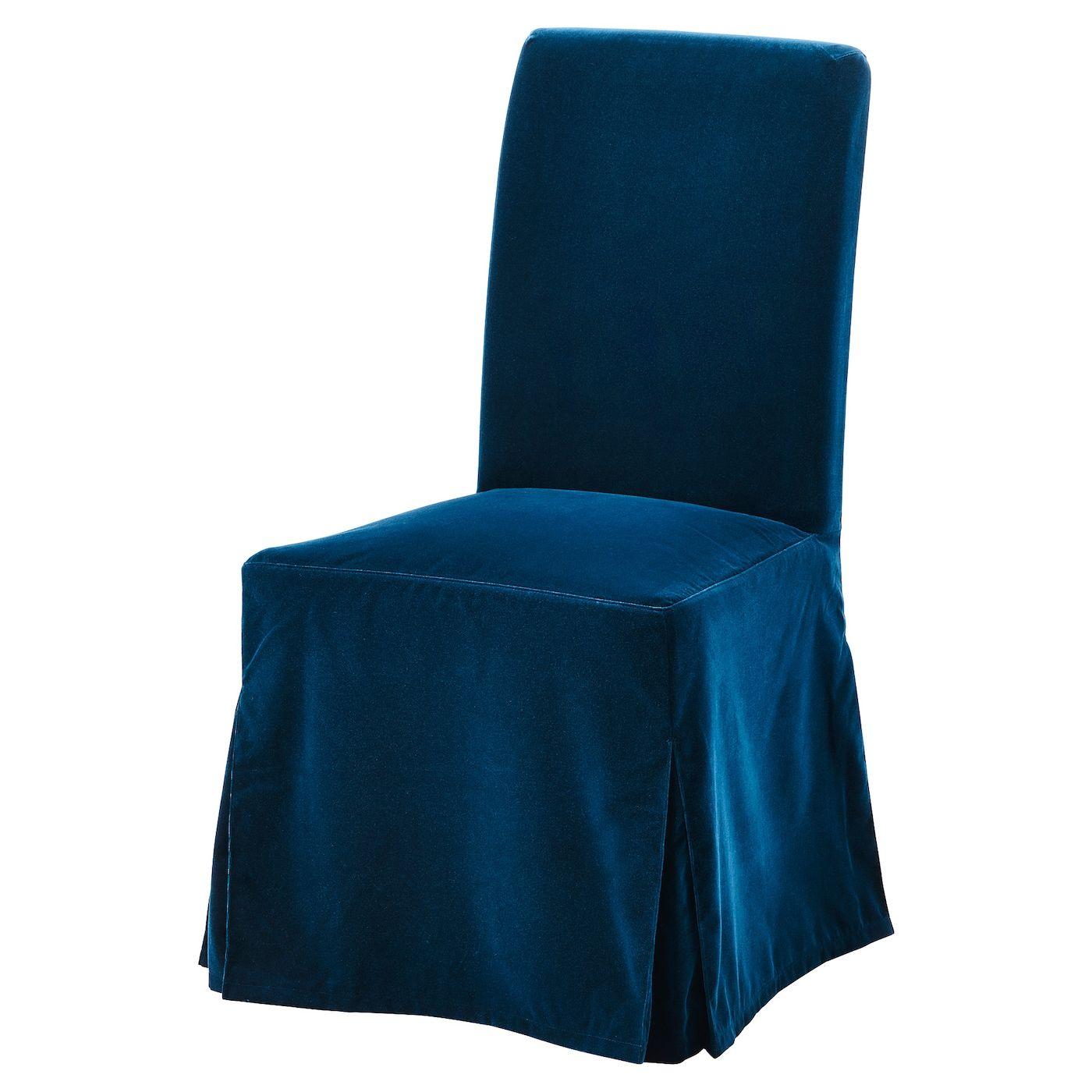 Henriksdal Chair Cover Long Djuparp Dark Green Blue Ikea Henriksdal Chair Cover Chair Cover Velvet Slipcovers