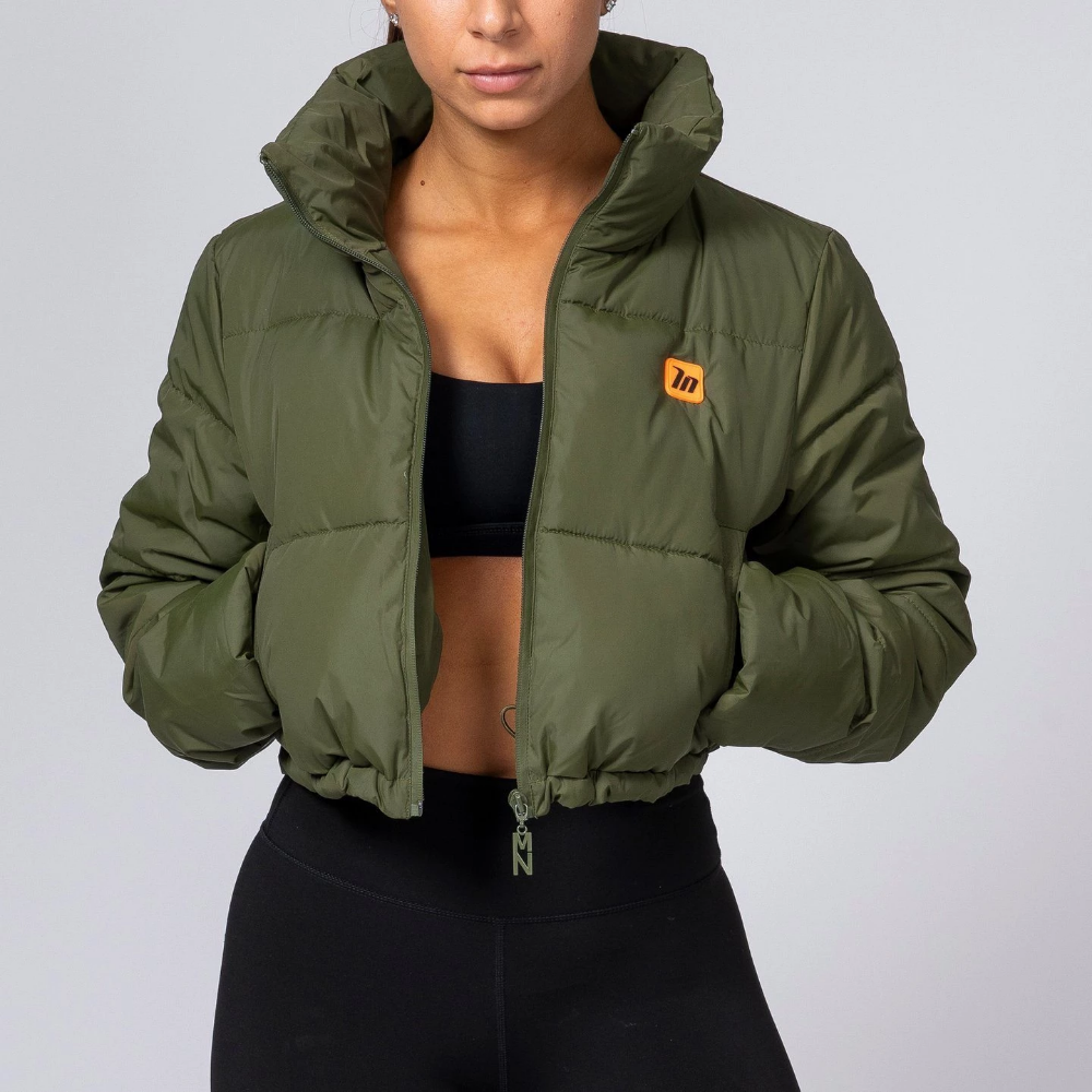 Muscle Nation Cropped Puffer Jacket Khaki Jymlocker Cropped Puffer Jacket Rain Jackets Outfit Puffer Jacket Outfit [ 1000 x 1000 Pixel ]