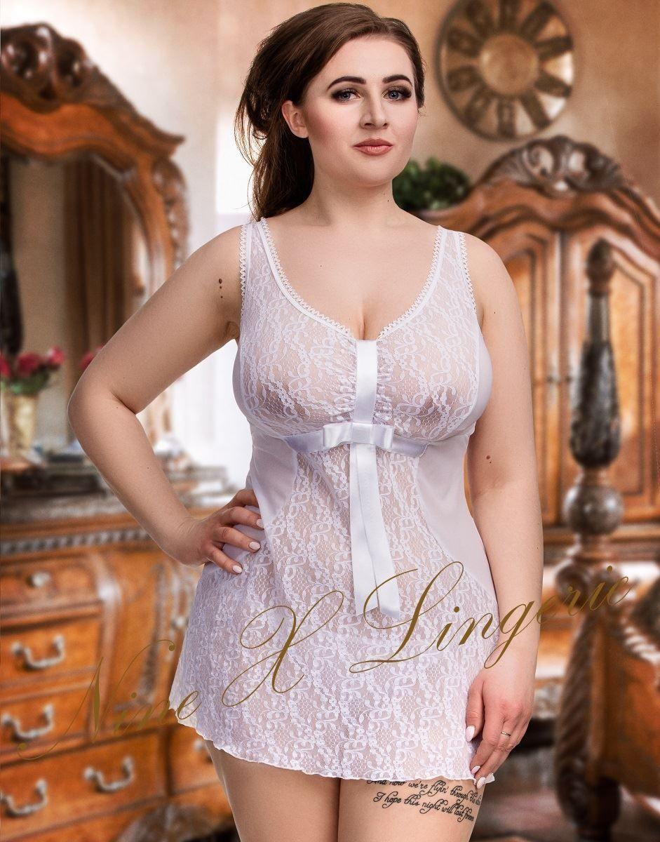 01bebdd283e Nine X Sexy Lace   Mesh plus Size babydoll M-8XL 10-28 Lingerie White