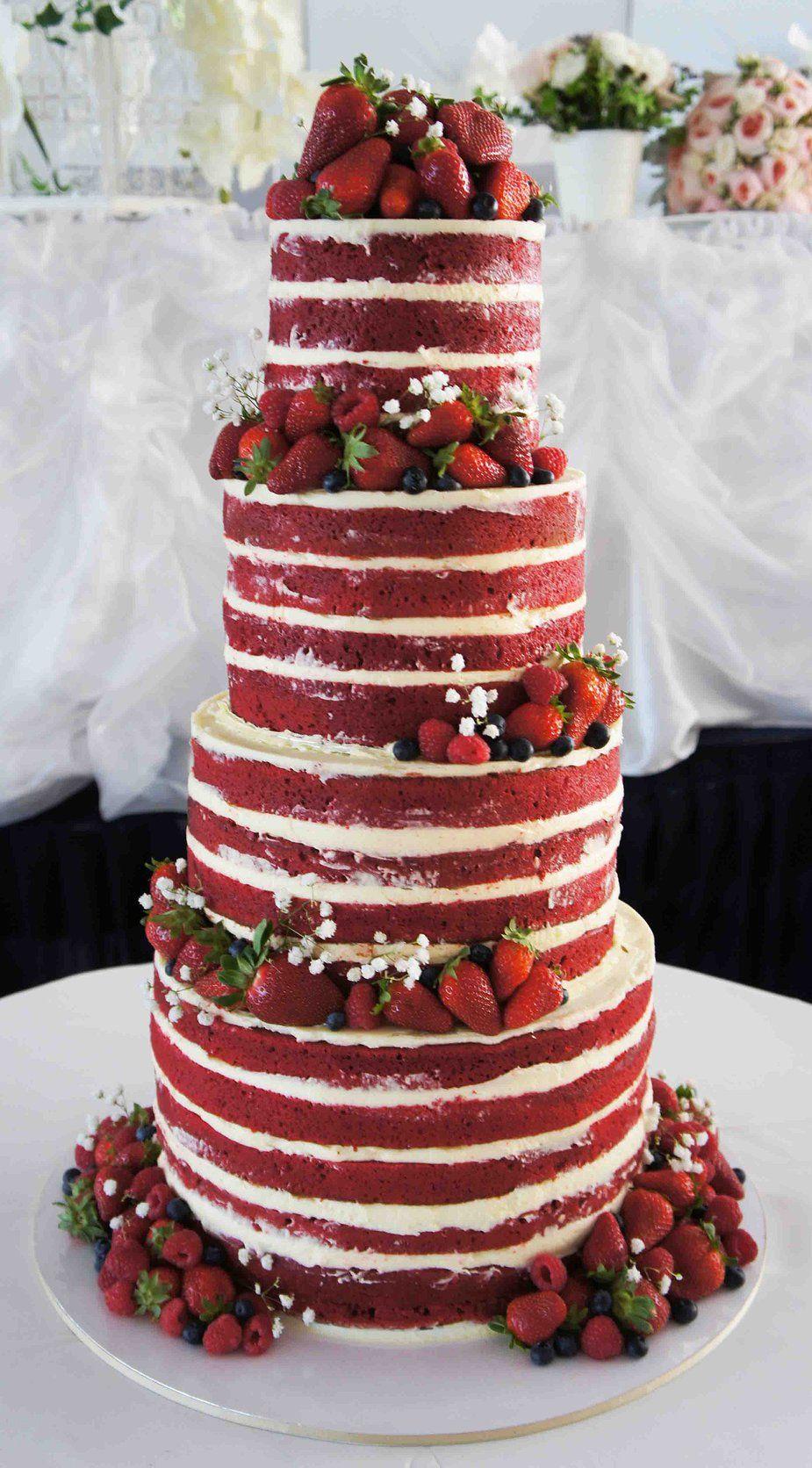 Naked Wedding Cake Inspiration For Your Wedding Cakes Pinterest
