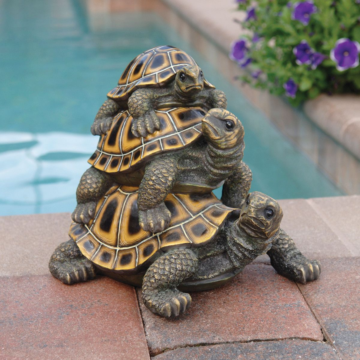 Outdoor Garden Statues Three S A Crowd Stacked Turtle Statue Aff Link