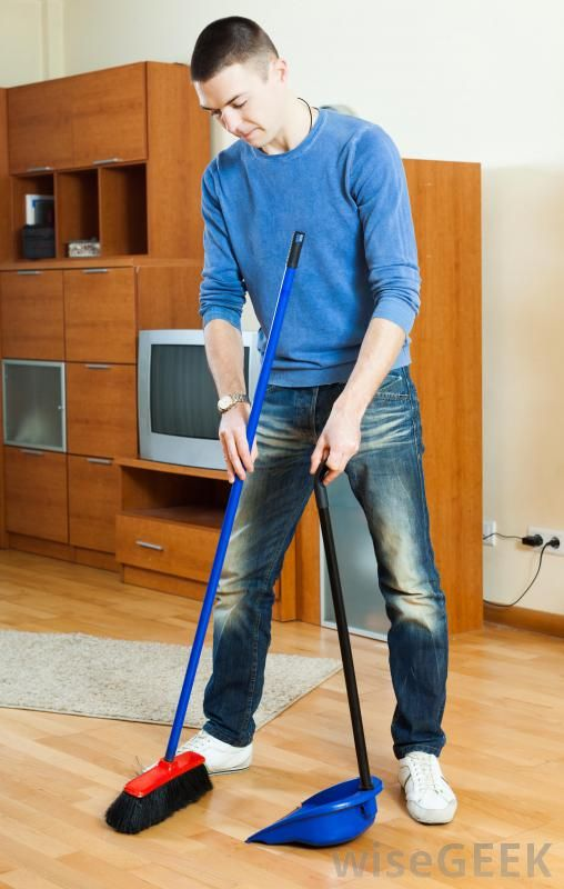 Before Mopping A Wood Floor Sweep It Free Of Dust And
