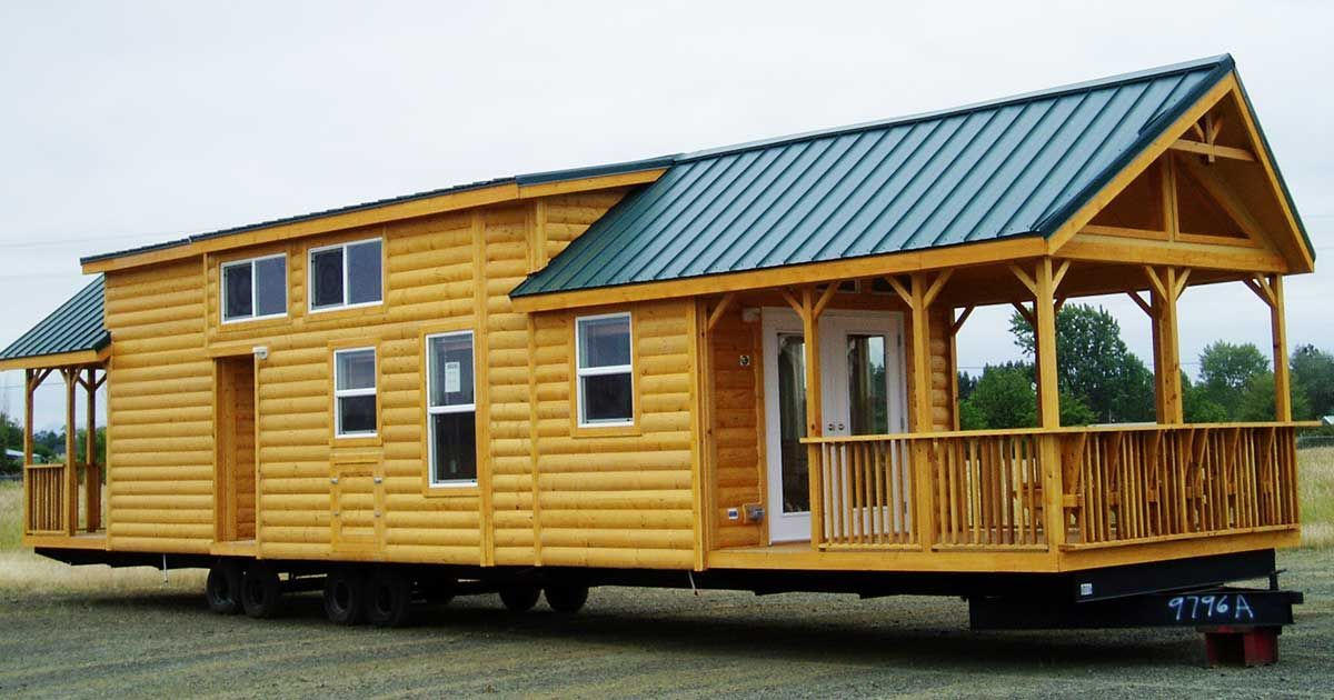 The Cascade Lodge: A Portable Park Model Log Cabin With Incredible Storage  Space